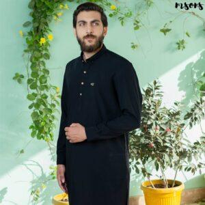 Black Designer Wear – Logo – Shirt Collar