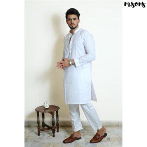 Exclusive White – Cotton Kurta – Regular Fit
